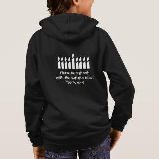 自閉症のハヌカーのスエットシャツ-暗闇 パーカ
