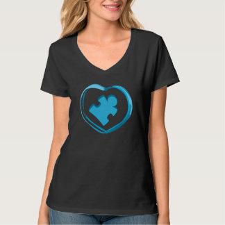 自閉症のハート Tシャツ