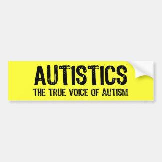 自閉症のバンパーステッカーの声 バンパーステッカー