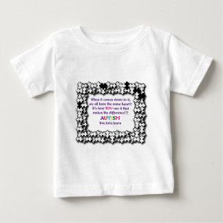 自閉症のパズルのハート ベビーTシャツ