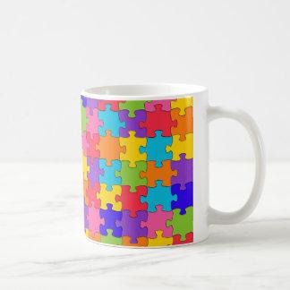 自閉症のパズル コーヒーマグカップ