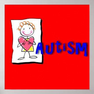 自閉症のプリント ポスター
