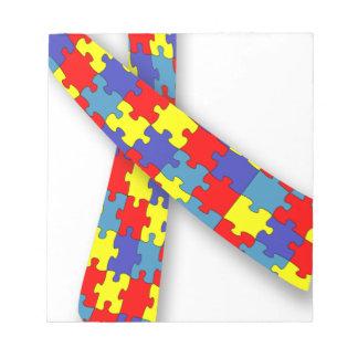自閉症のリボン ノートパッド