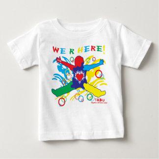 自閉症の乳児のTシャツ ベビーTシャツ