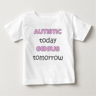自閉症の今日の天才TOMORROW-GIRLS ベビーTシャツ