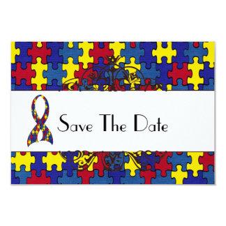 自閉症の保存日付 カード