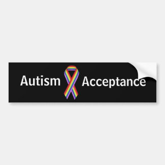 自閉症の受諾のバンパーステッカー バンパーステッカー