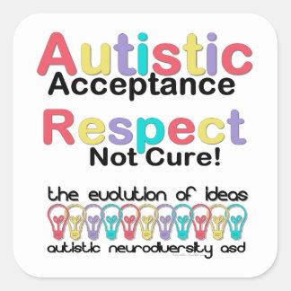 自閉症の受諾の点のない治療 スクエアシール