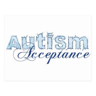 自閉症の受諾 ポストカード