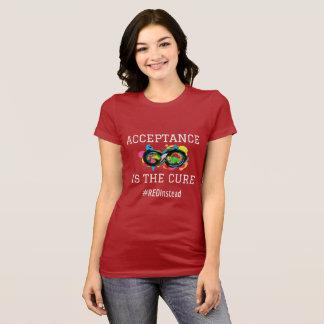 自閉症の受諾 Tシャツ
