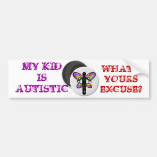 自閉症の弁解 バンパーステッカー