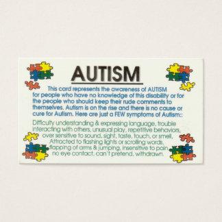 自閉症の情報提供者 名刺
