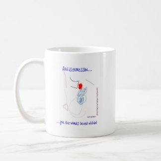 自閉症の抽象芸術 コーヒーマグカップ