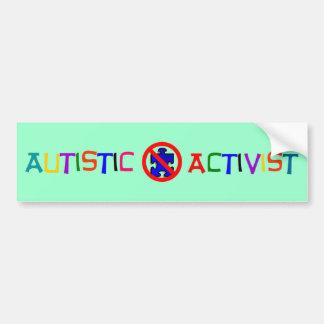 自閉症の活動家 バンパーステッカー