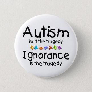 自閉症の無知 5.7CM 丸型バッジ