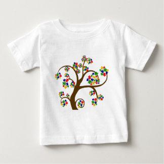 自閉症の生命の樹 ベビーTシャツ