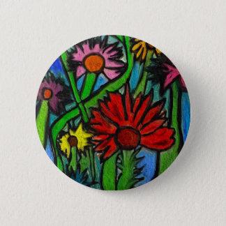 自閉症の目を通した絵画の花 缶バッジ