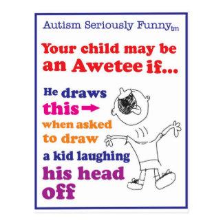 自閉症の真剣におもしろいな商品 ポストカード