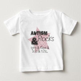 自閉症の石 ベビーTシャツ