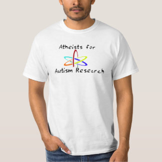 自閉症の研究のための無神論者 Tシャツ