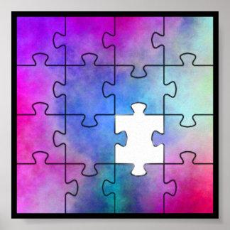 自閉症の行方不明の部分 プリント