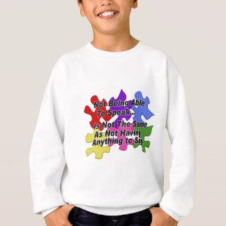 自閉症の話すこと スウェットシャツ