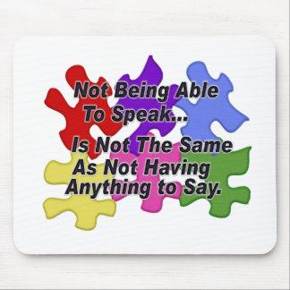 自閉症の話すこと マウスパッド
