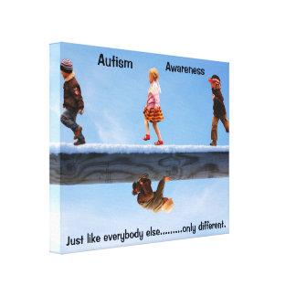 自閉症の認識度のキャンバス キャンバスプリント