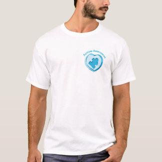 自閉症の認識度のハート Tシャツ