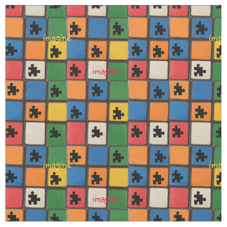 自閉症の認識度のパズルはモザイクを継ぎ合わせます ファブリック