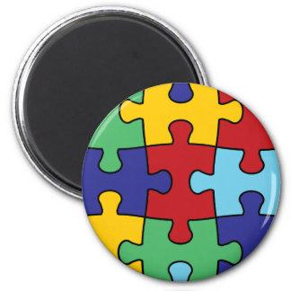 自閉症の認識度のパズルパターン マグネット