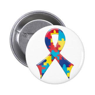 自閉症の認識度のリボンA4 5.7CM 丸型バッジ