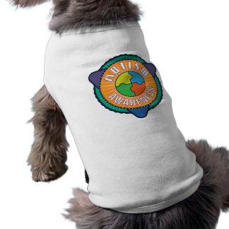 自閉症の認識度の写実的なバッジ犬のタンクトップ ペット服