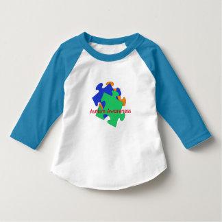 自閉症の認識度の幼児のワイシャツ Tシャツ