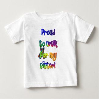自閉症の認識度の歩行者 ベビーTシャツ