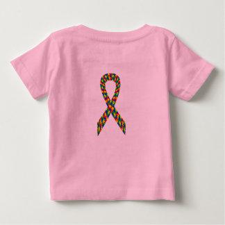 自閉症の認識度の赤ん坊のワイシャツ(女の子)! ベビーTシャツ