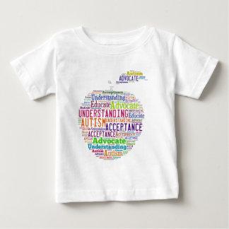 自閉症の認識度のAppleのデザインプロダクト ベビーTシャツ