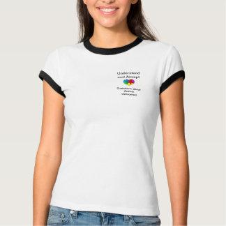 自閉症の認識度のTシャツ Tシャツ