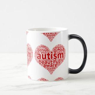 自閉症の認識度愛 モーフィングマグカップ
