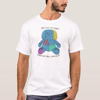 自閉症の認識度象 Tシャツ