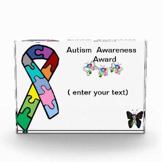 自閉症の認識度賞のパズルのリボン 表彰盾