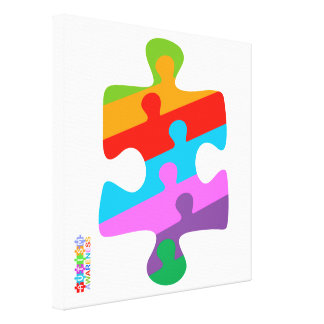 自閉症の認識度 キャンバスプリント