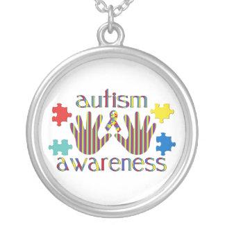 自閉症の認識度 シルバープレートネックレス