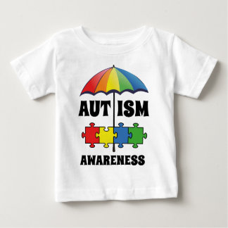 自閉症の認識度 ベビーTシャツ
