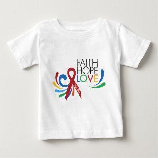 自閉症の認識度-信頼、希望、愛 ベビーTシャツ