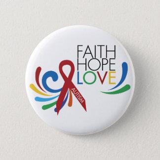 自閉症の認識度-信頼、希望、愛 缶バッジ