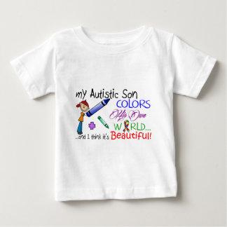 自閉症の認識度-私の息子および彼の世界! ベビーTシャツ