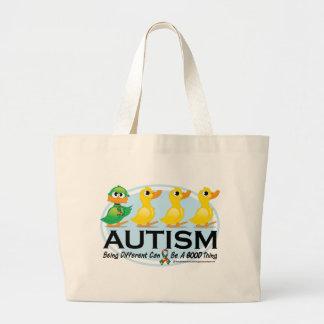 自閉症の醜いアヒルの子 ラージトートバッグ