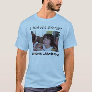 自閉症の顔 Tシャツ