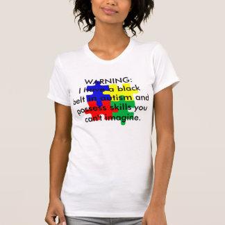 自閉症の黒帯 Tシャツ